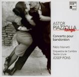PIAZZOLLA - Mainetti - Concerto pour bandonéon