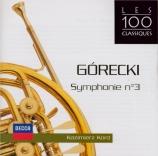 GORECKI - Kord - Symphonie n°3 op.36