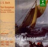 BACH - Koopman - Concerto pour deux clavecins et cordes en do majeur BWV