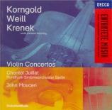 KORNGOLD - Juillet - Concerto pour violon op.35