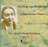 Complete Piano Sonatas vol.1 The Art of Maria Grinberg vol.2