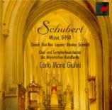 SCHUBERT - Giulini - Messe n°6 en mi bémol majeur, pour solistes, choeur