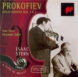 PROKOFIEV - Stern - Sonate pour violon et piano n°1 en fa mineur op.80