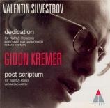 SILVESTROV - Kremer - Dedication
