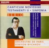 BERIO - Bychkov - Canticum Novissimi Testamenti II