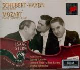 SCHUBERT - Stern - Trio avec piano n°1 en si bémol majeur op.99 D.898