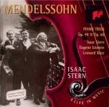 MENDELSSOHN-BARTHOLDY - Stern - Trio avec piano n°1 en ré mineur op.49