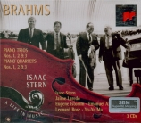BRAHMS - Stern - Trio avec piano n°1 en si majeur op.8