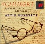 SCHUBERT - Artis Quartet - Quatuor à cordes n°13 en la mineur op.29 D.80