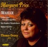 MAHLER - Price - Rückert Lieder, cinq mélodies pour voix et piano