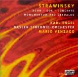 STRAVINSKY - Venzago - Agon, ballet pour orchestre