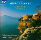 MERCADANTE - Philharmonia So - Dixtuor n°1 (Decimino I)
