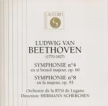 BEETHOVEN - Scherchen - Symphonie n°4 op.60
