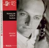 BRITTEN - Leleux - Temporal variations, pour hautbois et piano BTC.818