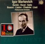 BARTOK - Markevitch - Suite de danses, pour orchestre Sz.77 BB.86