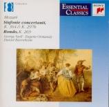 MOZART - Szell - Sinfonia concertante pour violon, alto et orchestre en