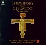 STRAVINSKY - Marlow - Messe, pour chœur mixte et deux quintettes à vent