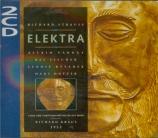 STRAUSS - Kraus - Elektra, opéra op.58 (live Cologne, 08 - 1953) live Cologne, 08 - 1953