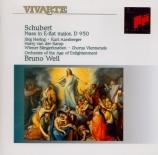 SCHUBERT - Weil - Messe n°6 en mi bémol majeur, pour solistes, choeur et
