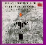 BACH - Mauersberger - Passion selon St Matthieu(Matthäus-Passion), pour