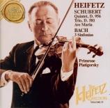 SCHUBERT - Heifetz - Quintette à cordes à deux violoncelles en do majeur