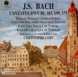 BACH - Coin - Ich bin ein guter Hirt, cantate pour solistes, choeur et or