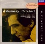 SCHUBERT - Ashkenazy - Sonate pour piano en la majeur op.posth.120 D.664