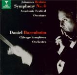 BRAHMS - Barenboim - Symphonie n°4 pour orchestre en mi mineur op.98
