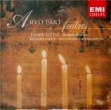 PÄRT - Studt - Fratres, pour quatuor à cordes