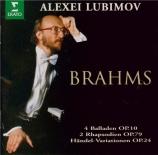 BRAHMS - Lubimov - Vingt-cinq variations et fugue, pour piano sur un thè