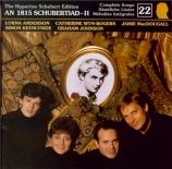 Complete Songs Vol.22 : An 1815 Schubertiad Vol.2