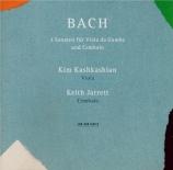 BACH - Kashkashian - Sonate pour viole de gambe et clavier n°1 en sol ma