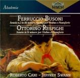 BUSONI - Cani - Sonate pour violon et piano n°2 en mi mineur op.36a