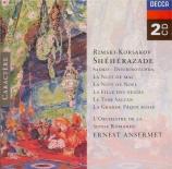 RIMSKY-KORSAKOV - Ansermet - Shéhérazade op.35