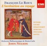 l'invitation au voyage : mélodies françaises