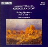 GRECHANINOV - Moyzes String Q - Quatuor à cordes n°2 op.70