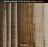 SIMPSON - Delmé String Qu - Quatuor à cordes n°9 '32 Variations and fugu
