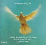 SIMPSON - Delmé String Qu - Quatuor à cordes n°10 'For peace'