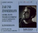 LORTZING - Zimmermann - Zar und Zimmermann (Live Stuttgart 28 - 5 - 1936) Live Stuttgart 28 - 5 - 1936