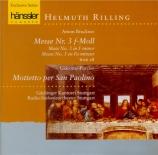 BRUCKNER - Rilling - Messe n°3