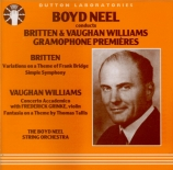BRITTEN - Neel - Simple symphony, pour orchestre à cordes op.4