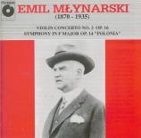 MLYNARSKI - Kord - Concerto pour violon et orchestre n°2 en ré majeur op