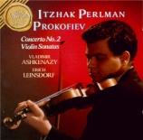 PROKOFIEV - Perlman - Sonate pour violon et piano n°1 en fa mineur op.80