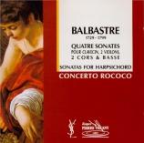 BALBASTRE - Concerto Rococo - Sonates en quatuor