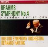 BRAHMS - Haitink - Symphonie n°4 pour orchestre en mi mineur op.98