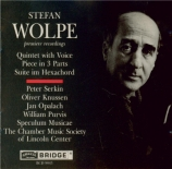 WOLPE - Serkin - Quintet with Voice