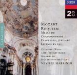 MOZART - Marriner - Requiem pour solistes, chœur et orchestre en ré mine