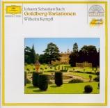 BACH - Kempff - Variations Goldberg, pour clavier BWV.988