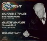 MAHLER - Schuricht - Symphonie n°3