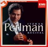 Récital Itzhak Perlman
